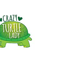 Crazy Turtle Lady with green sea turtle by jazzydevil