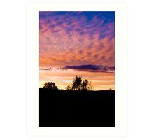 Sunset Over Borås  Art Print
