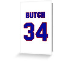 National baseball player Butch Metzger jersey 34 Greeting Card