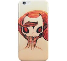 Devil mask girl iPhone Case/Skin