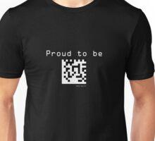 Nerd - Data Matrix - White Text Unisex T-Shirt