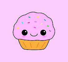 Cute Pink Kawaii Cupcake by TigerLynx