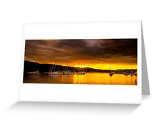 Gold - Newport - Sydney Beaches - The HDR Series Greeting Card