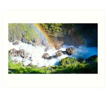 Wild River Rainbow in Austria Art Print