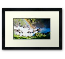 Wild River Rainbow in Austria Framed Print