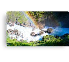 Wild River Rainbow in Austria Canvas Print
