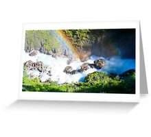 Wild River Rainbow in Austria Greeting Card