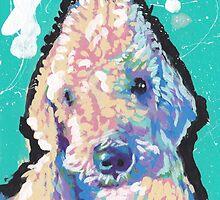 Bedlington Terrier Dog Bright colorful pop dog art by bentnotbroken11