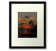 The End Or Beginning Of A Perfect Day Framed Print