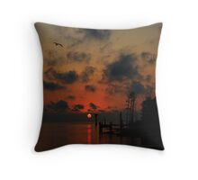 The End Or Beginning Of A Perfect Day Throw Pillow