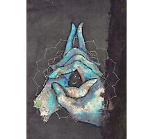 crown chakra mudra  Photographic Print