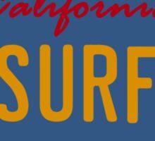 California Surf plate - Inspired by KITT Sticker