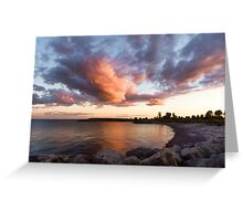 Colorful Summer Sunset - Lake Ontario Impressions Greeting Card