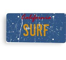 California surf plate - Distressed version Canvas Print