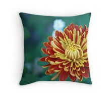 Flower of Fire Throw Pillow