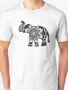 Mandala Elephant Black T-Shirt