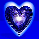 Heart Infinity Blue by Ann Morgan