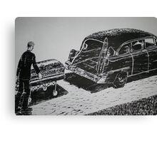 Shoving Off Canvas Print