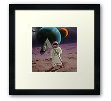 Extrasolar Pakistani Moonlander Framed Print