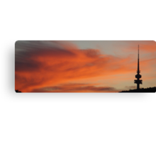 Telstra Tower at Sunset Canvas Print