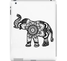 Mandala Elephant Black iPad Case/Skin