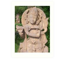 sculpture on stone Art Print