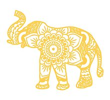 Mandala Elephant Yellow by laurauroraa