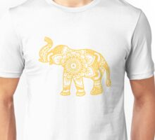 Mandala Elephant Yellow Unisex T-Shirt