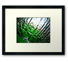 Green Ice I Framed Print