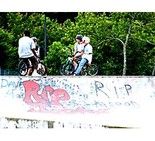 At the Skate Park Photographic Print