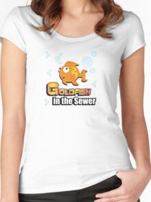 Limited Edition: Goldfish in the Sewer - fan products! Women's Fitted Scoop T-Shirt