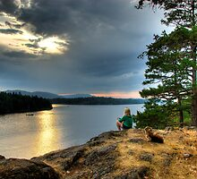 Sunset over Salt Spring Island by toby snelgrove  IPA