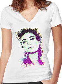 Splat Women's Fitted V-Neck T-Shirt