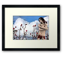 Tears of a Wild Rose with Rose Moxon Framed Print