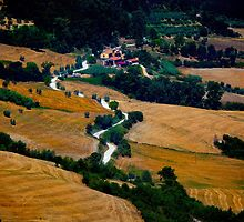Tuscany Small Road Landscape (Italy) by adriancoopers