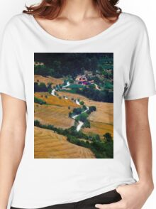 Tuscany Small Road Landscape (Italy) Women's Relaxed Fit T-Shirt