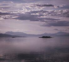 Sundown Lake in Norway by adriancoopers
