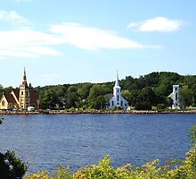 The 3 Churches In Mahone Bay by HALIFAXPHOTO