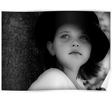 Girl in a Black Hat Poster