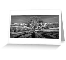 Doulting Hill Panorama Greeting Card