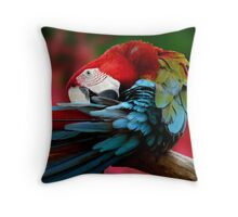 Scarlet Macaw. Throw Pillow