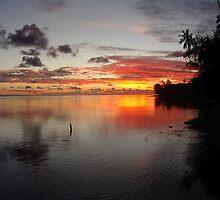 Tahitian Sunset by Kristin Nichole Hamm