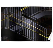 Dark And Yellow Stairway Poster