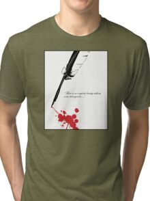 Edgar Allan Poe - Beauty and Strangeness Tri-blend T-Shirt