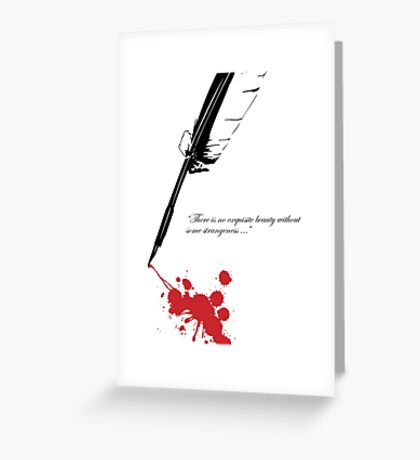 Edgar Allan Poe - Beauty and Strangeness Greeting Card