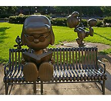Peanuts Statues in Rice Park 2 Photographic Print