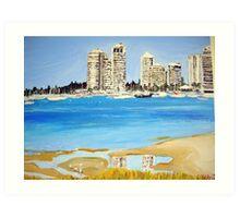Gold Coast Broad Water  Art Print