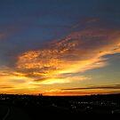 Early traffic sunrise. by Jim Caldwell