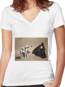 Office Jokes Women's Fitted V-Neck T-Shirt