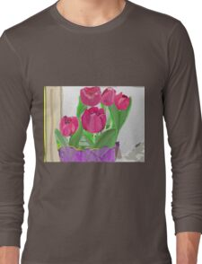 Tulips from Sally Long Sleeve T-Shirt